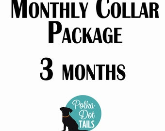 3 Month Collar Package, Puppy Package, Dog Gift, Gift for Pet Lover, Seasonal Collar, Handmade, Monthly Collar Subscription, Christmas,