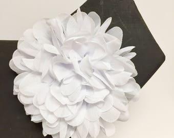 Christmas - Mardi Gras - Easter - Spring - White flower - dog collar accessory