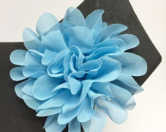 Blue Chiffon flower - Summer - Spring Flower - Dog Collar Accessory - Gift - Pet Gift - Pretty - Fancy - Christmas - Holiday
