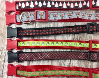 Christmas Dog Collar, Ready to Ship, Size Small, Dog Gift, Fast Shipping