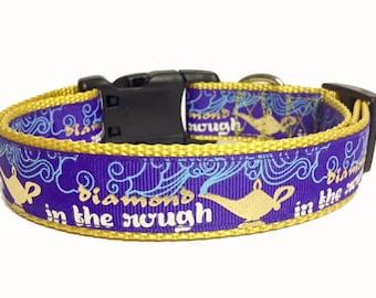 Aladdin, Disney, Princess, Diamond in the rough, inspired Dog Collar