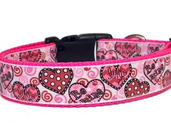 Candy Hearts Glitter Valentine Dog Collar