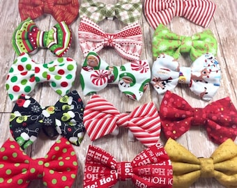 Christmas Dog Bow Ties, Ready to Ship, Dog Gift, Fast Shipping, Bows