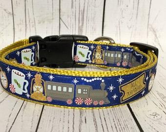 Christmas, Polar Express Train Inspired Dog Collar