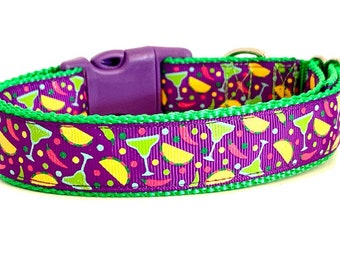 Margarita Dog Collar, Cheers Dog Collar, Taco dog collar