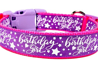 Birthday Girl Dog Collar, Happy Birthday Collar,