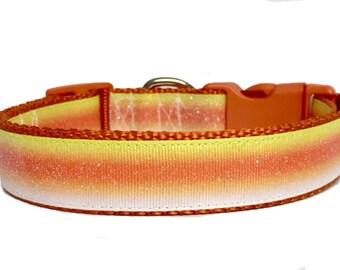 Candy Corn Dog Collar, Halloween Dog Collar