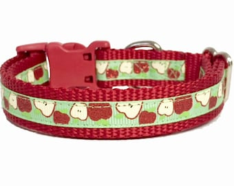 Sweetest Apple, Fall Dog Collar, Cat Collar, Harvest Back to School, Thanksgiving, pet gift, handmade, Toy Dogs, Small Dogs, Teacher