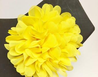 Yellow - Summer - Summer - Spring - Flower - Chiffon - Dog Collar Accessory - Holiday - Gift - Pet Gift - Pretty - Fancy