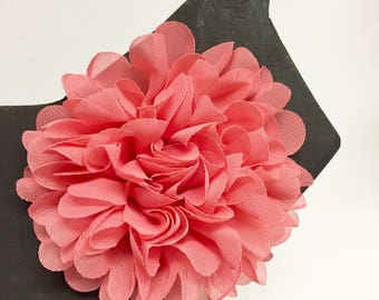 Salmon Pink - Summer - Spring - Flower - Chiffon - Dog Collar Accessory - Holiday - Gift - Pet Gift - Pretty - Fancy