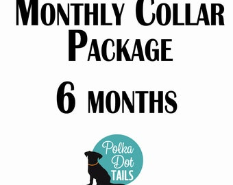 6 Month Collar Package, Puppy Package, Dog Gift, Gift for Pet Lover, Seasonal Collar, Handmade, Monthly Collar Subscription, Christmas,