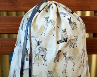 Childrens Library/Toy Bag - All The Wild Things.