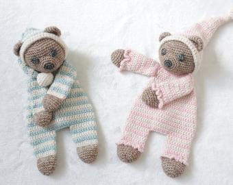 Sleepy Bear Ragdoll crochet amigurumi pattern PDF INSTANT DOWNLOAD