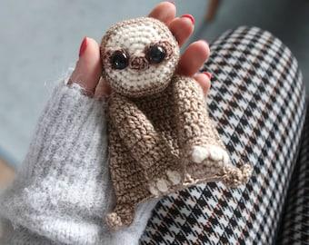 Baby Sloth mini Ragdoll crochet amigurumi pattern PDF INSTANT DOWNLOAD
