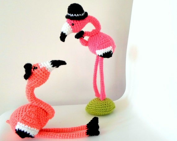 Mr Mrs Flamingo Crochet Amigurumi Pdf Pattern Instant