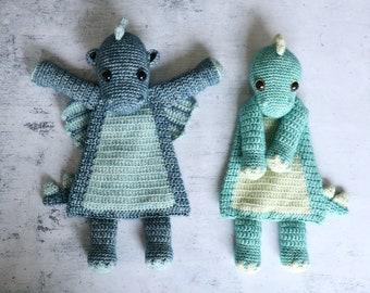 Dino or Dragon Ragdoll crochet amigurumi pattern PDF INSTANT DOWNLOAD