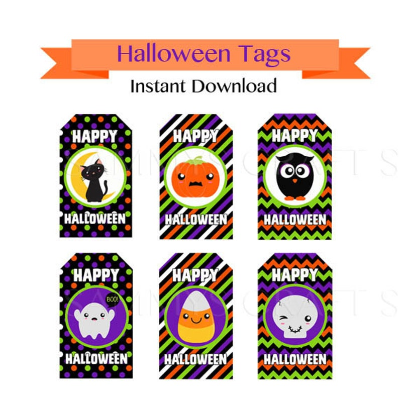 image relating to Free Printable Halloween Tags named 50% OFF Sale Printable Halloween Tags, Halloween Prefer Tags for Small children, Instantaneous Obtain, Totally free Cupcake Wrappers