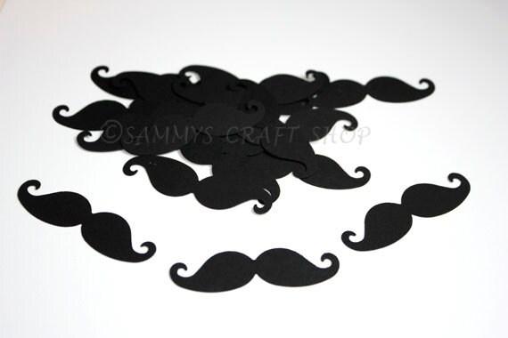 Mustache Baby Shower Decorations, Black Mustache Confetti, Oh Boy Baby  Bash, Little Man Mustache First Birthday Party Supplies (50 Ct) From  SammysCraftShop ...
