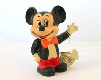 Vintage Mickey Mouse Plastic Bank,Walt Disney