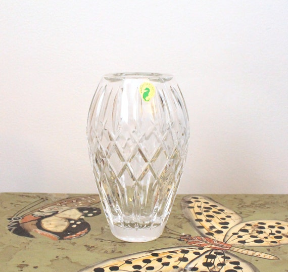 Vintage Waterford Crystal Vase 7 Made In Ireland Etsy