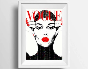 Vogue Cover Poster Print | Wall Art Fashion Prints