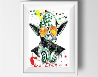 Dj yoda Poster Print | Music Art
