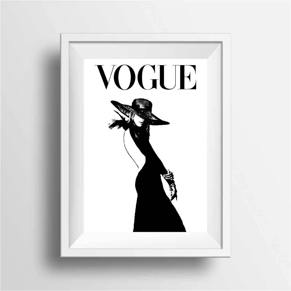 vogue noir et blanc affiche tirages etsy. Black Bedroom Furniture Sets. Home Design Ideas