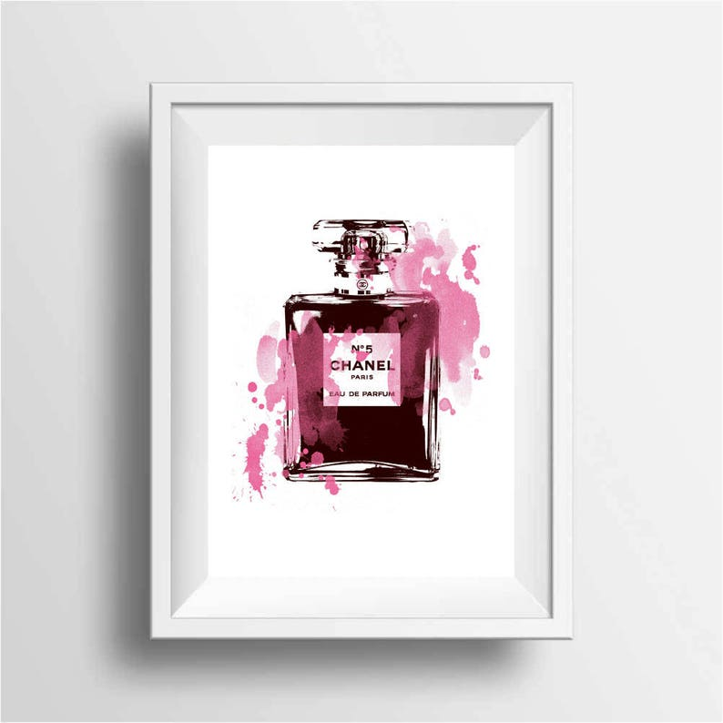 Fashion Illustration Poster Print Parfum Art Prints Etsy