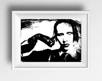 Manson poster print | Wall Art Music