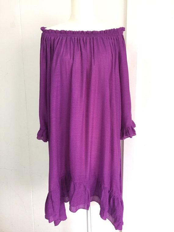 be8ab67de5a83 Purple Party Women Plus Size Off-the-shoulder Top 1x 2x