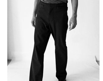 SALE! WOOL TROUSERS Men black, Winter, winter pants, handmade, Pants