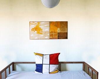 BAUHAUS PILLOW CASE cushion cover, 100 years Bauhaus, De Stijl, Constructivism, Concrete Art, Digital Print