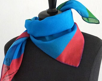 "SCARF ""SQUARE"" in different colors, digital print, cotton, silk"
