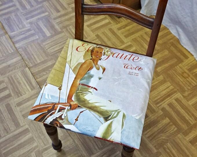 ART DECO Pillow Case with 2 motifs, Art Nouveau, Organic Cotton, digital print, 1930s