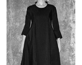 Boulé DRESS, 3/4 sleeves, Balloon, Bubble, long, black, blue, Princess collar