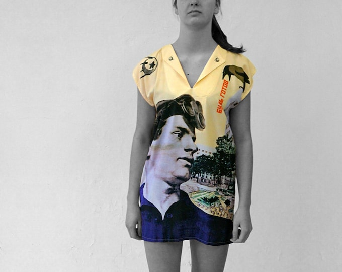 PIONEER Dress, Tunic, October revolution, Communism, Socialism, digital print, Soviet Union, workers posters, propaganda, 1920s to 1940s