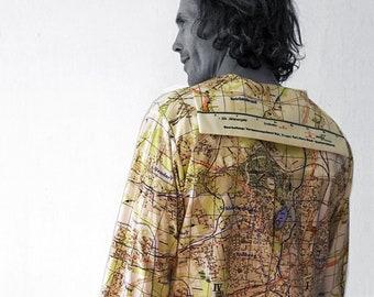 PIONEER Shirt with long Sleeves, sailor collar, Seaman, Karl- Marx- Stadt, digital print, Karl Marx