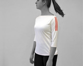 PIONEER T-SHIRT No. 4, 3/4 Sleeves, Boat neck, in different colours, long sleeves, Custom order, GDR Pioneer