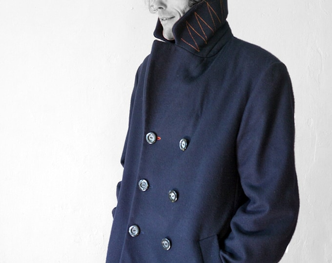 WINTER CABAN, Wool, Cashmere, Short Coat, Woolfelt, Felt, double row, 2-row, Winter Coat, Winter Blazer, Wool, DB Jacket