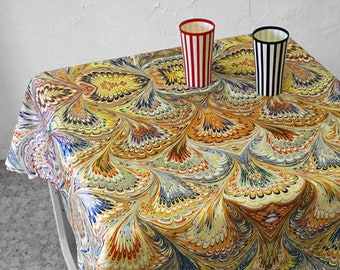 ART DECO TABLECLOTH, table runner, Vintage, Picnic Blanket, Beach Towel, Art Nouveau, digital print, 1920-1940, marbling, 1920s, 1930s, 40s