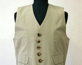 SALE! VEST WAISTCOAT Uniform Vest, Military, 18. century, 19. century, Vintage, cotton, pastel