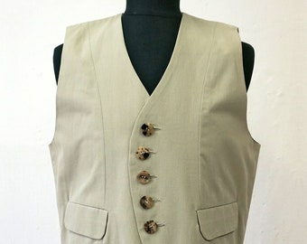 VEST WAISTCOAT Uniform Vest, 18. / 19. century, Vintage, cotton, pastel