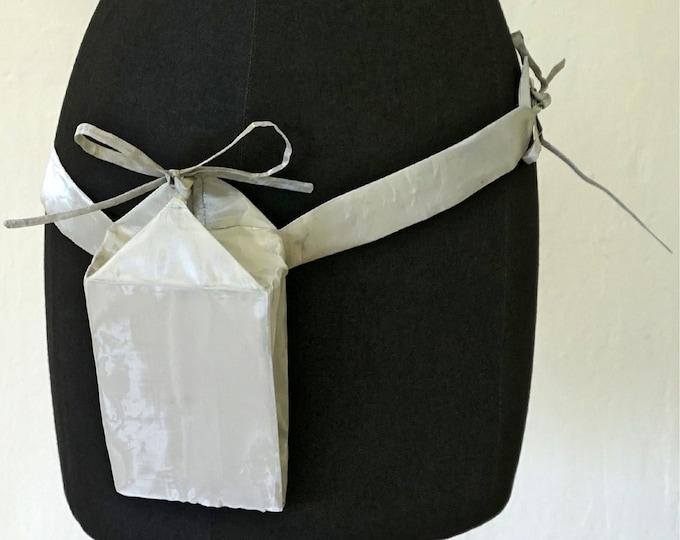 SILVER FANNY PACK, shiny, silver, gift, design, unique, bag, single piece