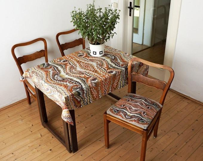 ART DECO TABLECLOTH 1920s, table runner, Picnic Blanket, Beach Towel, Art Nouveau, digital print, 1920 - 1940, marbling