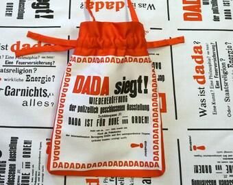 LITTLE BAG DADAISM, printed Pouch, Kurt Schwitter, Organic Cotton, digital print, 1920 - 1940