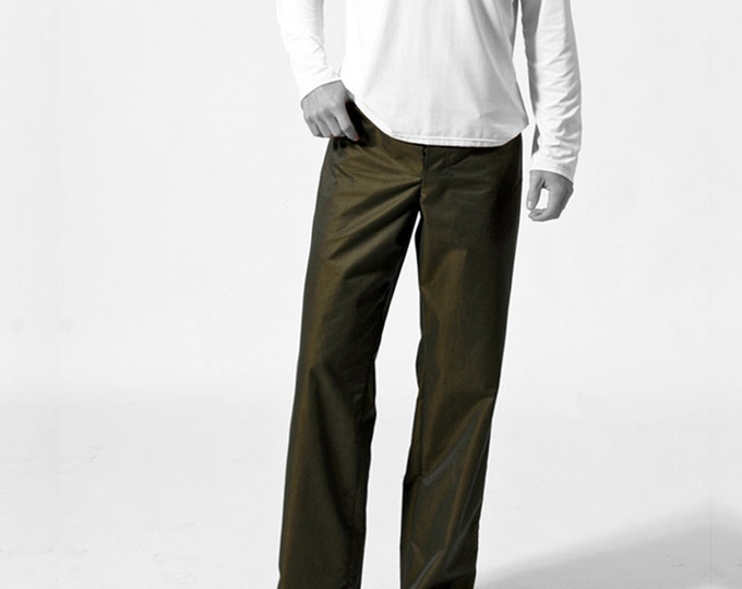changierend MEN TROUSERS iridescent Pants, cotton, changeant