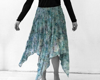 Silk Velvet burnout SKIRT silk, Layering, transparent, lace, jacquard, embroidery, lingerie, cutout, translucent top