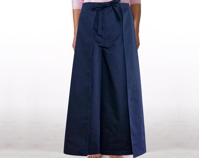 WRAP PANTS WOMEN in different fabrics: linen, wool, shaolin, sarouel, jodphur