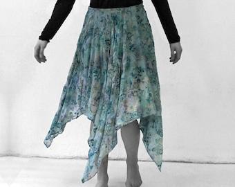 Silk Velvet burnout SKIRT silk, Layering, transparent, lace, jacquard, embroidery, lingerie, cutout, translucent top