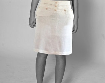 SAILOR SKIRT  white, beige, cream, black, brown, sailor, seamen, uniform, vintage, 18. / 19. century, handmade, yacht, navy, cotton, Silk